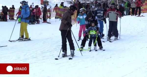 Kevés a hó a magyar sípályákon, van, ahol ebben a szezonban még nem is láttak havat – ATV