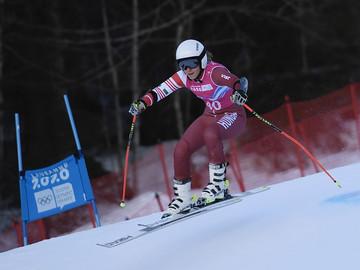 Szuper-G-ben versenyeztek alpesi sízőink